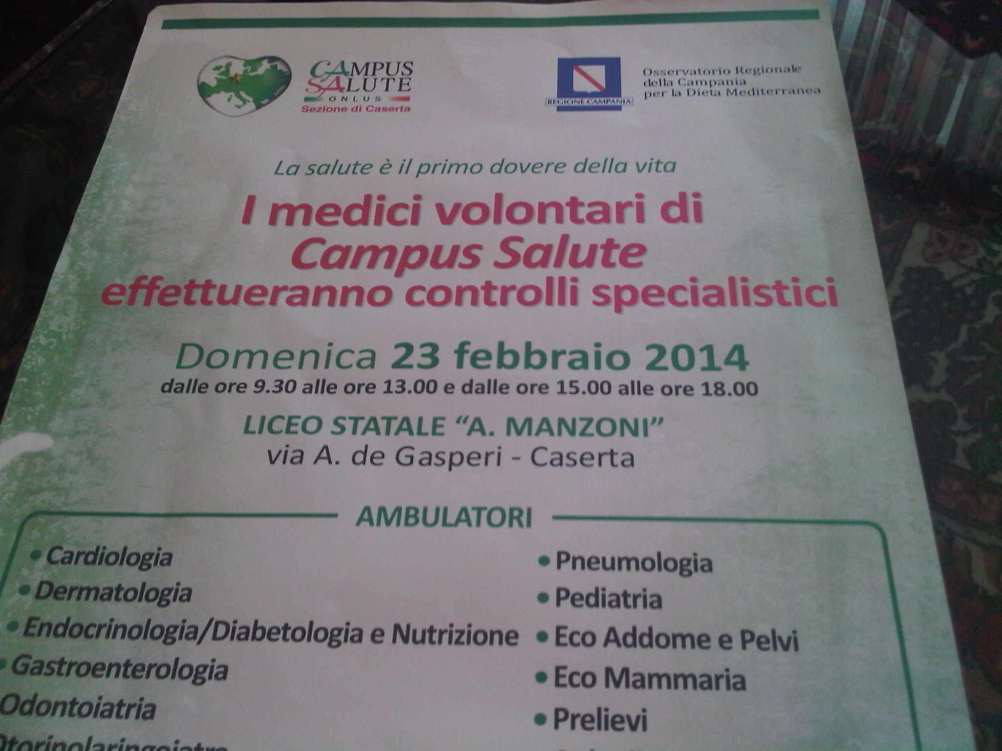locandina campus salute